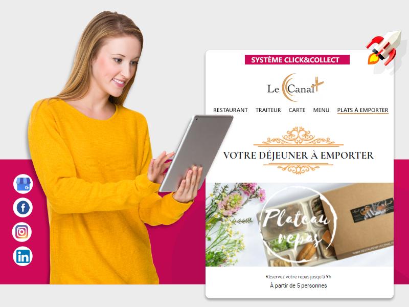 solutions numériques création site web restaurant clé en main - beez media agence web essonne