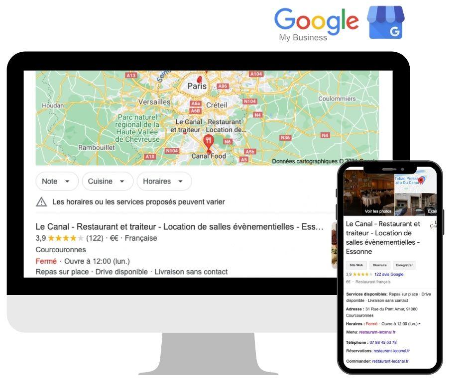 service référencement google my business - Agence web Essonne